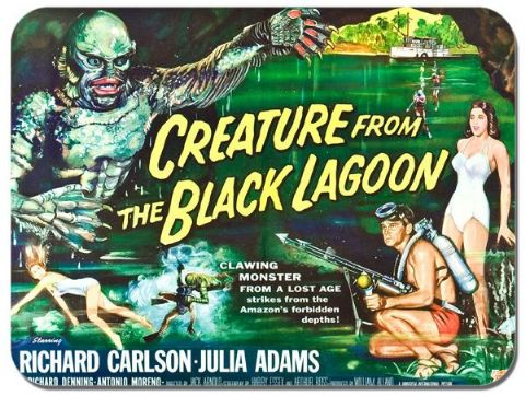 Creature From The Black Lagoon Movie Poster Mouse Mat. Film Novelty Mouse pad